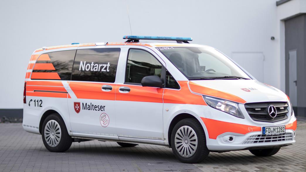 Ein Rettungswagen des Malteser Rettungsdienstes
