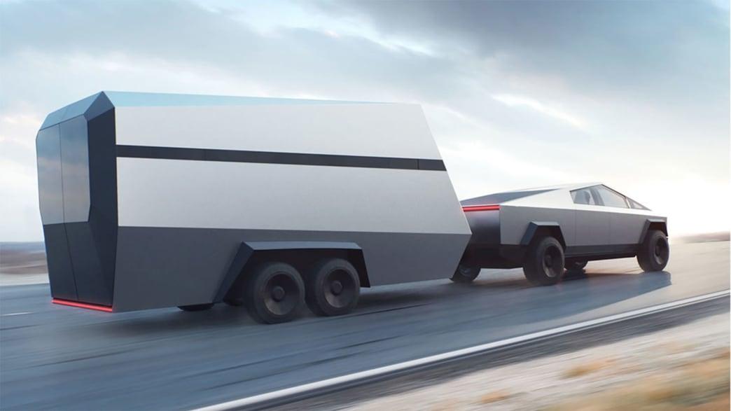 Tesla Cybertruck mit Anhänger