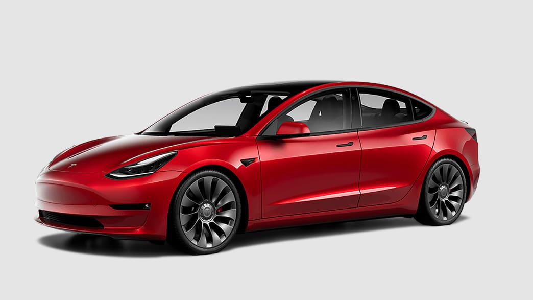 Stehender Tesla Model 3