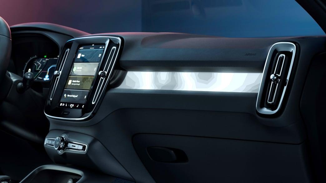 Armaturenbrett des Volvo C40 Recharge