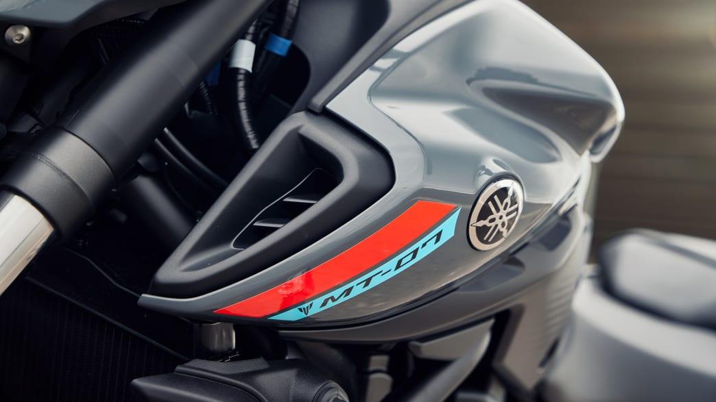 Detailansicht eines Yamaha MT-07 Motorrads