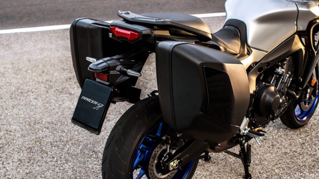 Heckdetail der Yamaha Tracer 9 GT