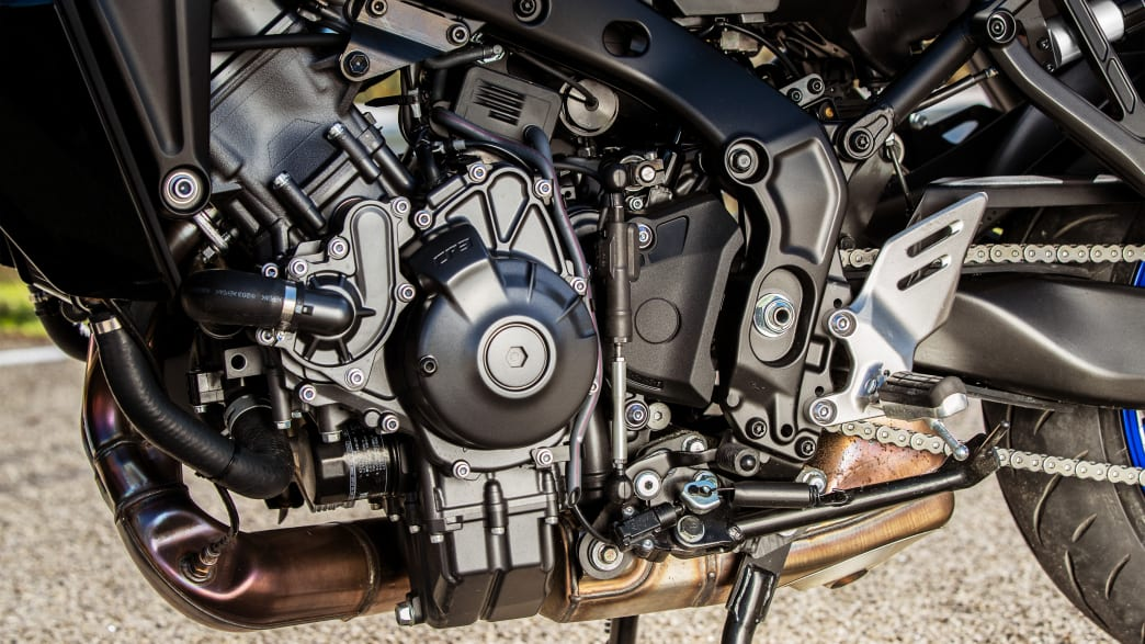 Motor einer Yamaha Tracer 9 GT