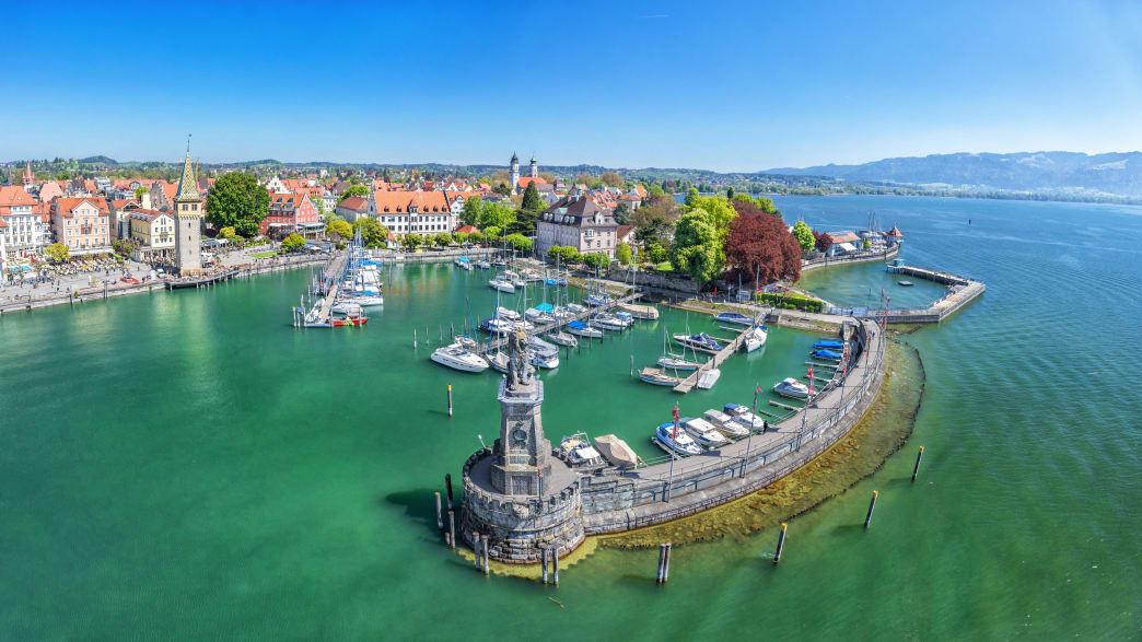 Blick auf Lindau am Bodensee