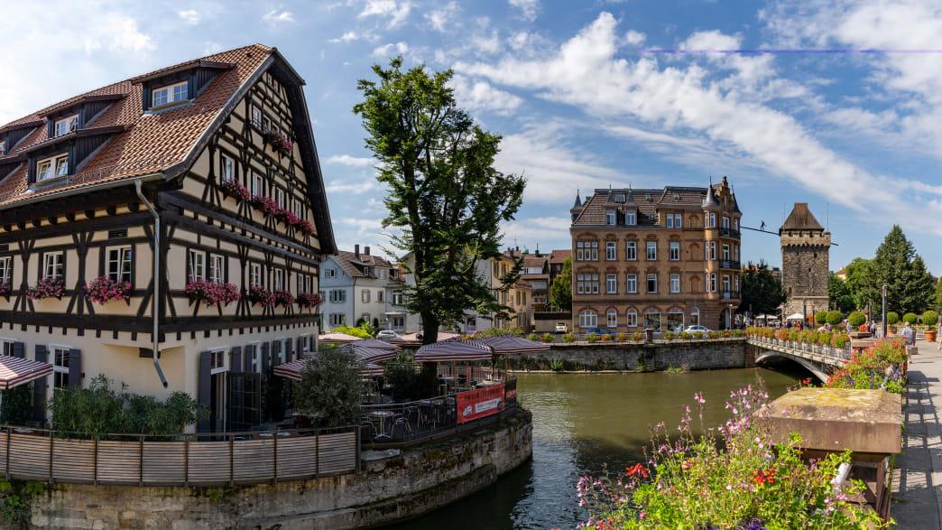 Fachwerkhäuser in der Innenstadt von Esslingen