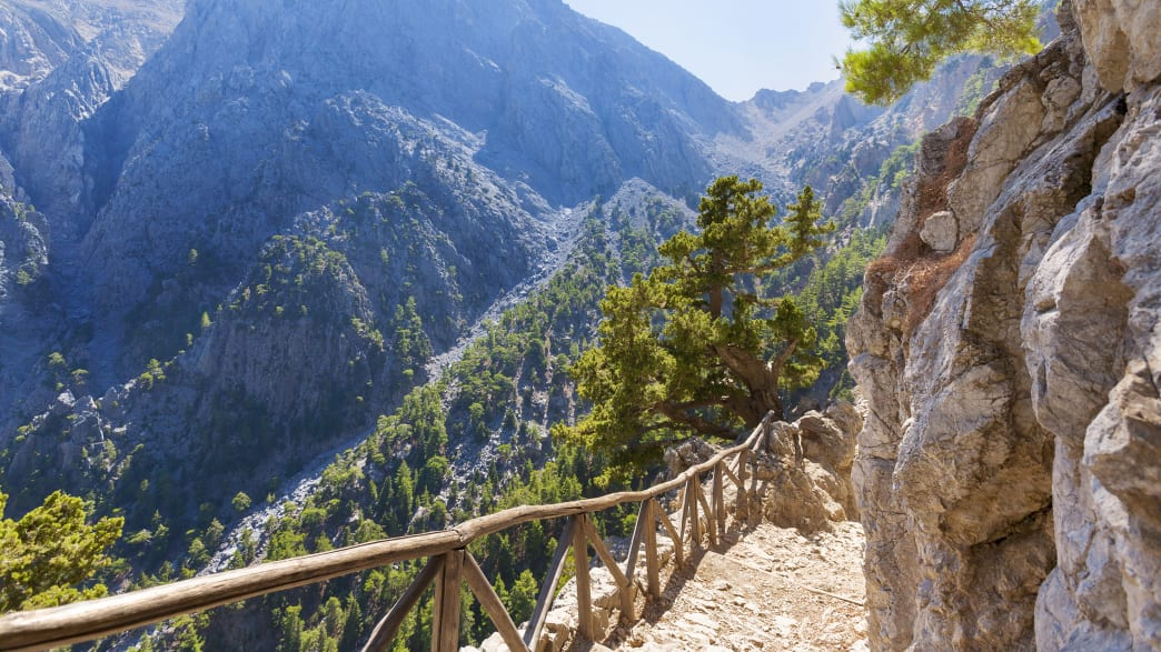 Einstieg in die Samaria-Schlucht auf Kreta