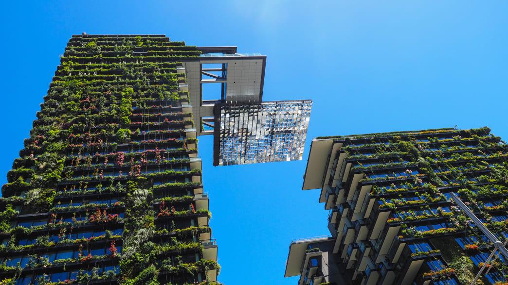 Mit Pflanzen bewachsene Hochhäuser in Sydney