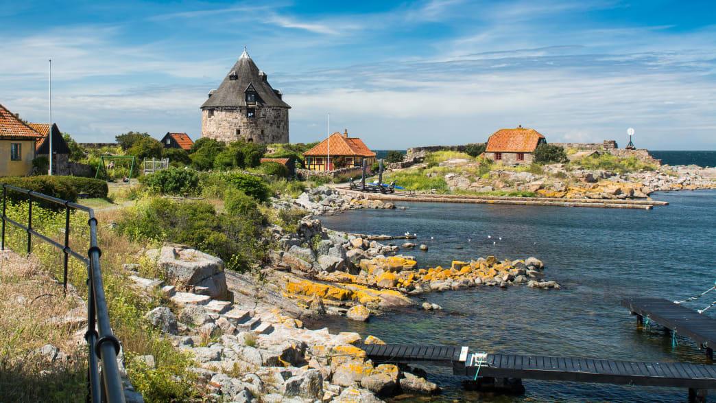 Die dänische Insel Christianso neben Bornholm an der Ostsee