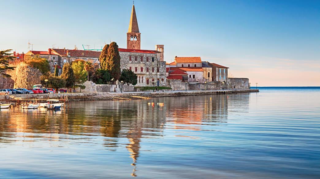 Die Stadt Porec in Istrien