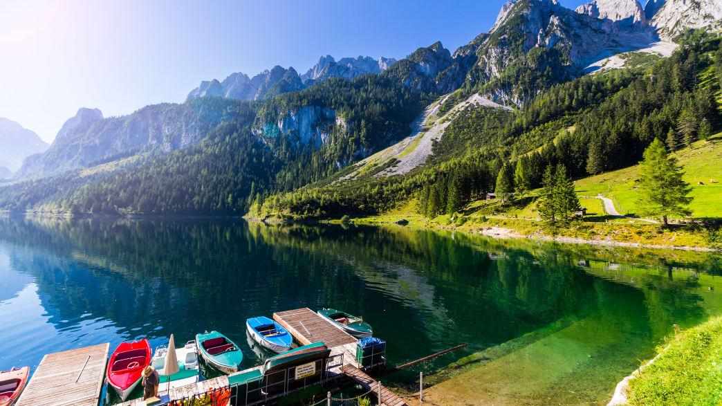 Ein Bergsee im Salzburger Land in Österreich
