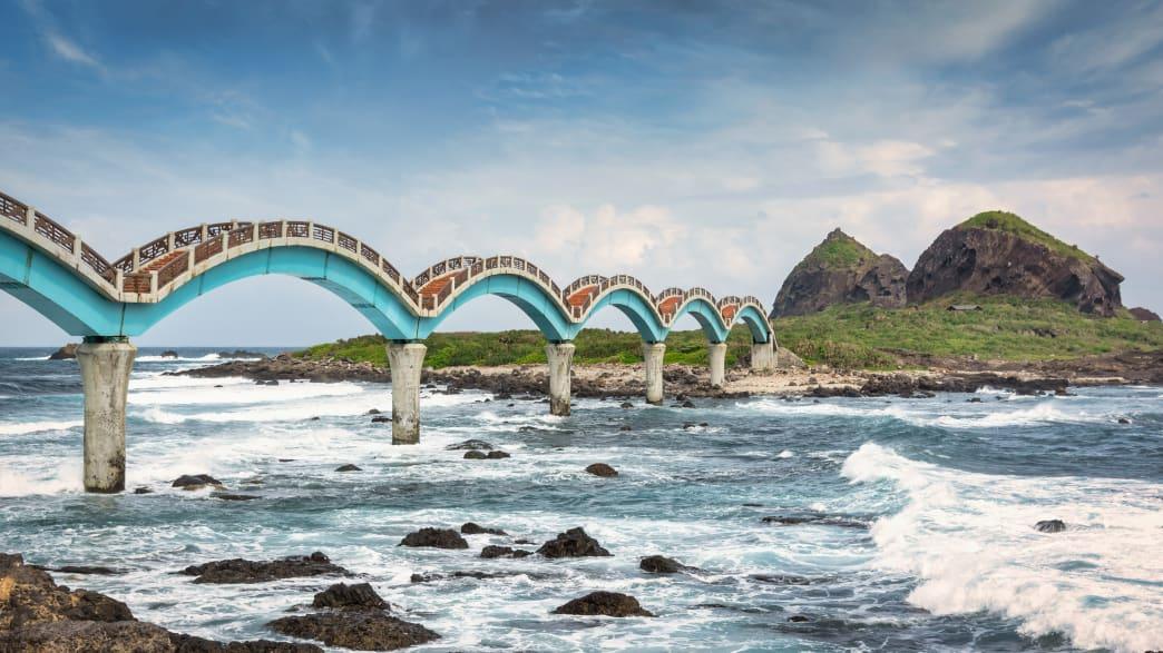 Bogenbrücke in San Xian ti