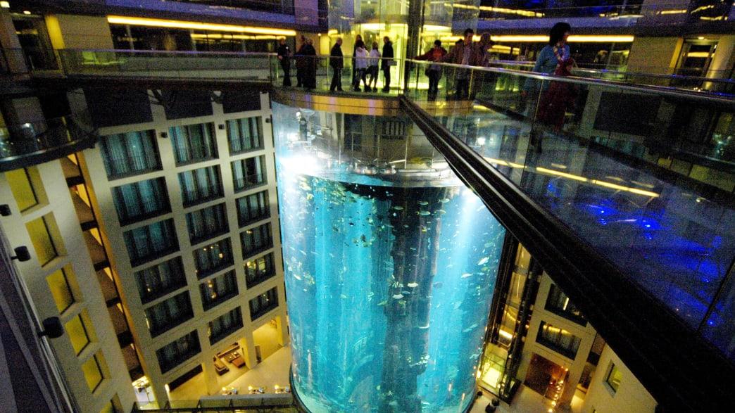 Aufzug im AquaDom