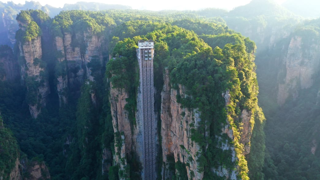 Bailong. Elevator in China