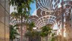 Garten und Objekte des Themendistriktes zur Expo2020 in Dubai