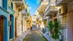 dekorierte Hauswände von Pirgi auf der Insel Chios