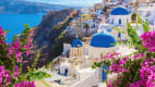 das Dorf Oia auf Santorini