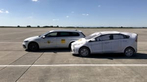 Cut in Test beim EuroNCAP Automated Driving Test