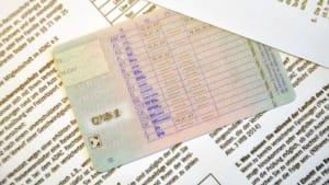 Close-up eines Führerscheins