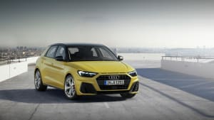 Audi A1 in Gelb