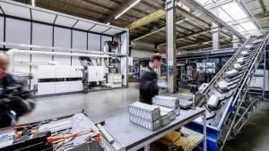 Batterie Recycling bei der Firma Duesenfeld