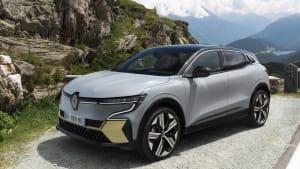 Vorderansicht eines Renault Megane E-Tech