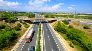 Autobahn AP7 bei Tarragona in Spanien