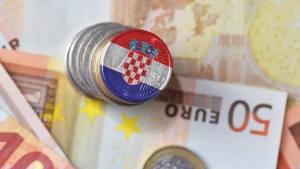 Euromünze mit kroatischer Flagge