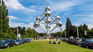 Blick auf das Atomium in Brüssel