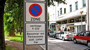 Parken erlaubt werktags, Anwohnerparken