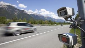 Blitzer auf der A12 zwischen Kufstein und Innsbruck