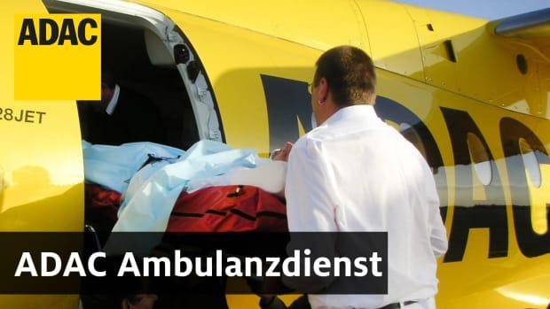 Ein Krankenrücktransport des ADAC Ambulanzdienst