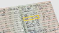 Fahrzeugschein in dem die Ziffern 8.1 und 8.2 die Angaben für die Dach und Stützlast gekennzeichnet sind