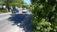 Radweg  in einer Stadt