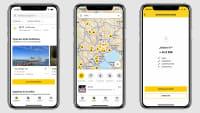 Beispiel Screens der ADAC Trips App