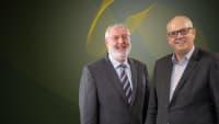 Doppelportrait von Bremens Bürgermeister Andreas Bovenschulte (SPD) und Thomas Burkhardt, Vorsitzender ADAC Weser-Ems