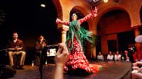 Auftritt der Profi-Tänzerin Cristina Gallego im Museo del Baile Flamenco