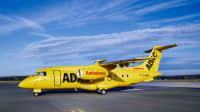 Die Dornier Fairchild 328 300 Jet des ADAC Ambulanzservice am Flughafen 2016
