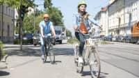 Fahrrad fahren in der Stadt München