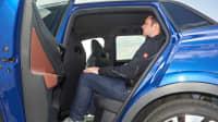 Platzangebot auf der Rückbank des VW ID4