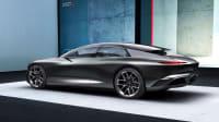 Seitenansicht eines stehenden Audi Grand Sphere Concept