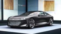 Frontansicht eines stehenden Audi Grand Sphere Concept