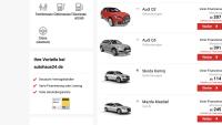 Ein Screenshot von der Seite von Autohaus24.de