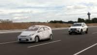 Mercedes GLE beim EuroNCAP Automated Driving Test