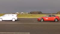 Tesla Model 3 beim EuroNCAP Automated Driving Test