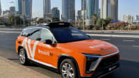 Ein autonom fahrendes Taxi in Tel Aviv