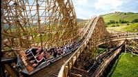 Mammut Holzachterbahn im Erlebnispark Tripsdrill