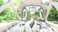 Der Shiki Shima Zug in Japan von innen
