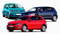 Bestenliste von VW eco Up, Polo TGI und Golf TGI