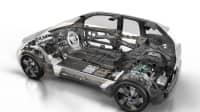 Schnittzeichnung des BMW i3 mit Range Extender