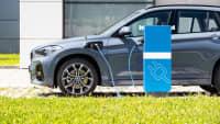 ein BMW X1 Hybrid wird geladen